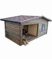 Весь дом Будка для собак «Уют» с утеплением 185х100х95 см