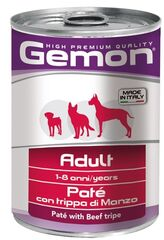 Gemon Dog Adult Pate Beef Tripe 400гр.х 12 шт.