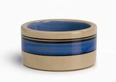 Beeztees Миска для кошек керамическая с синими полосками 11.5 см