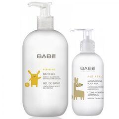 BABE Набор детский для купания (Детский гель для купания, 500 мл + Молочко детское увлажняющее для тела, 100 мл  в подарок)