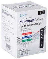 Система контроля крови Infopia Тест-полоски на липидный профиль №5 для Element Multi