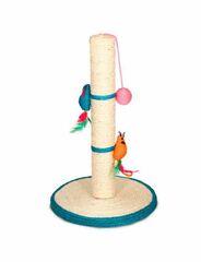 Когтеточка Triol Когтеточка из сизаля «Столбик» с двумя мышками и шариком