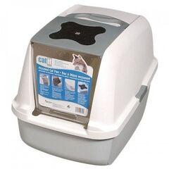 Catit Закрытый туалет для кошек серый 57х46х39 см