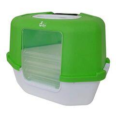 Catit Угловой закрытый туалет зеленый 55x45x30 см