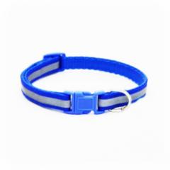Ошейник и поводок Redplastic Ошейник синтетический светоотражающий синий 25 мм