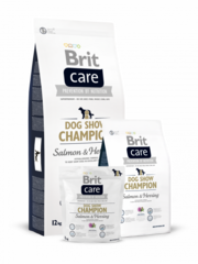 Brit Dog Show Champion, лосось, сельдь, рис, 12 кг.