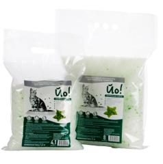 Кошкина полянка Наполнитель силикагелевый впитывающий с ароматом мяты (8 л)