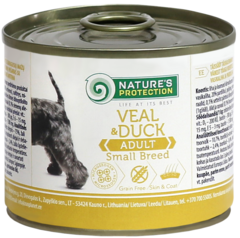 Natures Protection Adult Small Breed Veal and Duck 200 гр.