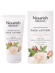 Nourish Лосьон для лица увлажняющий «Розовая вода и арган»