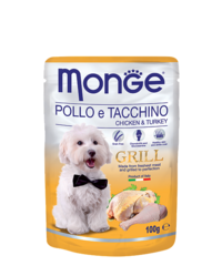 Monge Grill Pouch Chicken and Turkey 100гр. х 12 шт.