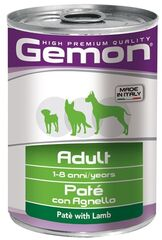 Gemon Dog Adult Pate Lamb 400гр. х 12 шт,