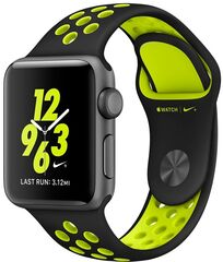 Apple Фитнес-браслет  Watch Nike+ 38mm Space Gray with Black/Volt Nike Band [MP082]