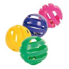 Trixie Игрушка «Цветные трещащие шарики» (4 шт)