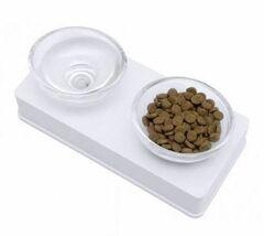 Catit Стеклянная миска для животных белая
