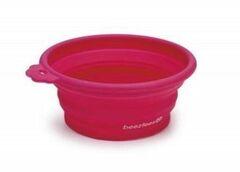 Beeztees Кормушка силиконовая розовая для кошек 14х12.5 см