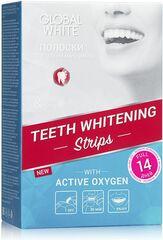 Global White Отбеливающие полоски для зубов 14 дней ( 28 полосок)