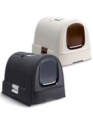 Curver Туалет-домик для кошек кремово-коричневый