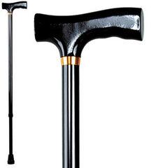 Antar Трость телескопическая с рисунком и Т-образной деревянной ручкой  АТ 51102
