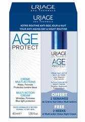 Uriage Набор AGE PROTECT DETOX (Крем д/лица многоф. дн. 40 ml+ Крем-детокс д/лица многоф. ноч. 10 мл)