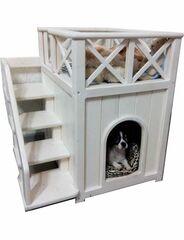 Весь дом Домик для маленькой собаки «Замок» без утепления