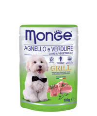 Monge Grill Pouch Lamb and Veget 100гр. х 12 шт.