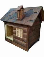 Весь дом Будка для собаки «Сказка» без утепления 100х55х110 см