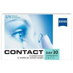 Контактные линзы Контактные линзы Carl Zeiss Contact Day 30 Compatic Toric (6 линз)