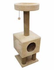 Когтеточка Cat House Когтеточка «Домик на ножках» из меха и джута