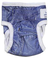 Hippie Pet Подгузники многоразовые для собак (имитация джинсовой ткани, размер XS)