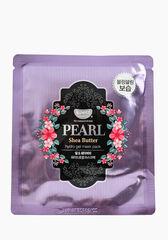 KOELF Маска для лица гидрогелевая с маслом ши и жемчужной пудрой PEARL&SHEA BUTTER, 1 шт
