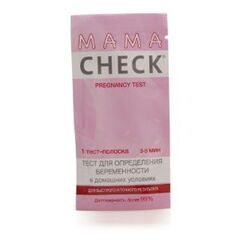 Экспресс-тест Beromed Тест для определения беременности MAMA CHECK, 1 тест-полоска