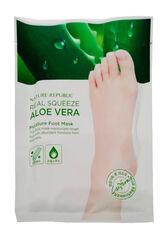 Nature Republic Маска для ног увлажняющая с экстрактом алоэ REAL SQUEEZE ALOE VERA MOISTURE FOOT MASK(R) 16мл
