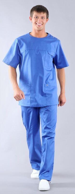 Доктор Стиль Блуза медицинская мужская Озон (лл2214) - фото 4