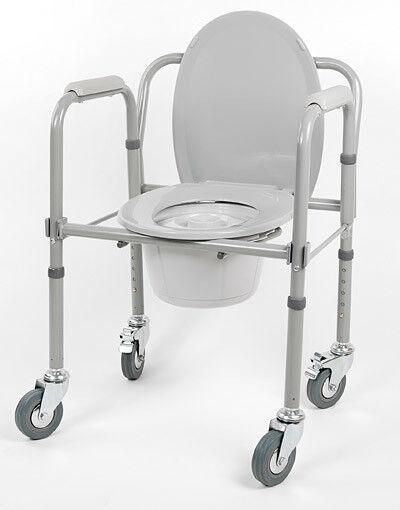 Санитарное приспособление Valentine I. LTD Кресло-туалет складной на колесах 10581Ca - фото 1