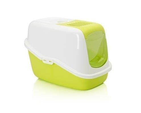 Savic Туалет-домик Nestor с фильтром и дверцей, белый/ярко-зеленый - фото 1