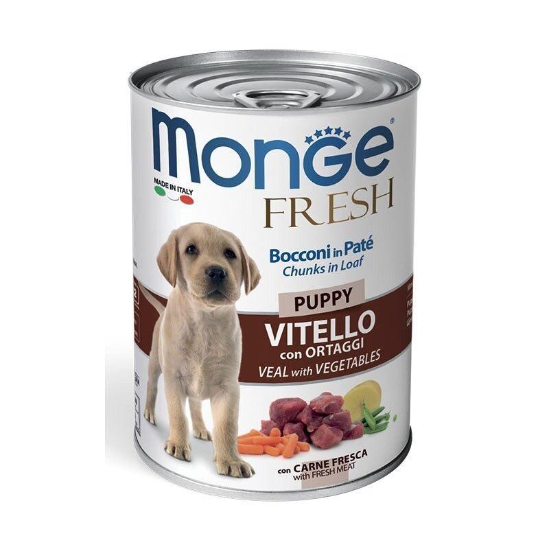 Monge Fresh Puppy Veal and Veget 400 гр.х 12 шт. - фото 1