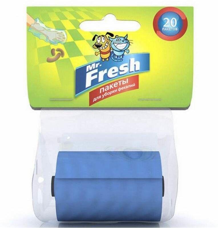 Mr.Fresh Пакеты для уборки фекалий (рулон на 20 пакетов) - фото 1