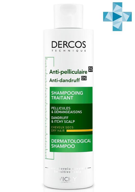 Vichy Dercos Шампунь-уход интенсивный против перхоти для сухих волос, 200 мл - фото 1
