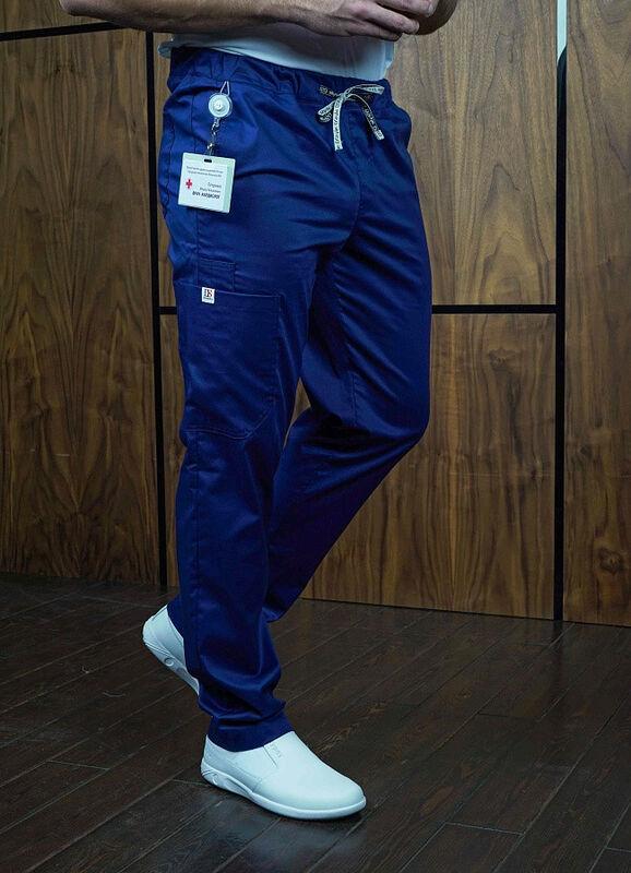 Доктор Стиль Медицинские брюки «Софт М» темно-синие Брю 3410.19 - фото 1