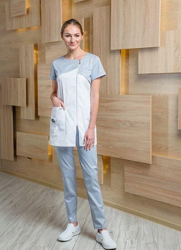Доктор Стиль Медицинская блуза «Жемчуг» жемчужная ЛУ 1226.52 - фото 2