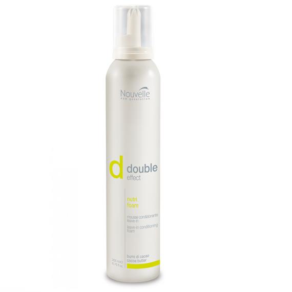 Nouvelle Несмываемый кондиционер-мусс для питания и увлажнения сухих волос Double Effect Nutri Foam 200 мл - фото 1