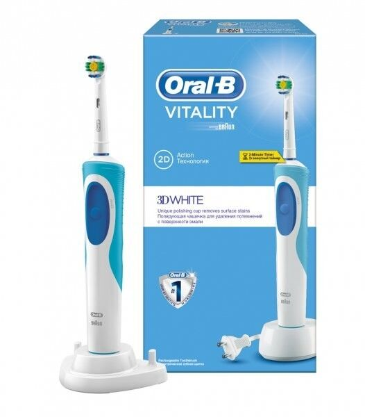 Oral-B Электрическая зубная щетка Vitality 3D White (D12.513) - фото 2