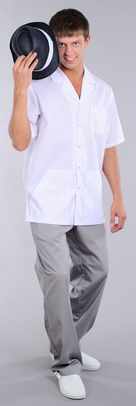 Доктор Стиль Блуза медицинская мужская Скай (лл2212) - фото 3