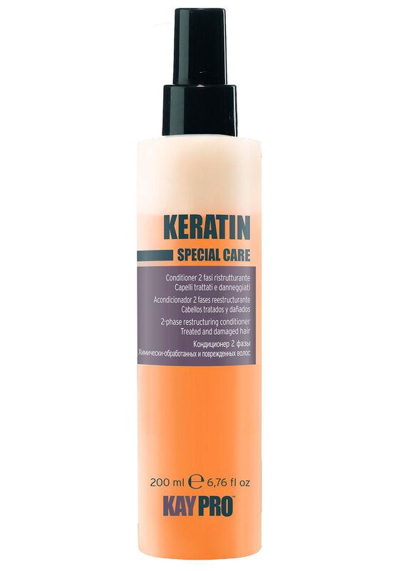KayPro Кондиционер Special Care Keratin двухфазный с кератином для химически обработанных и поврежденных волос 200мл - фото 1
