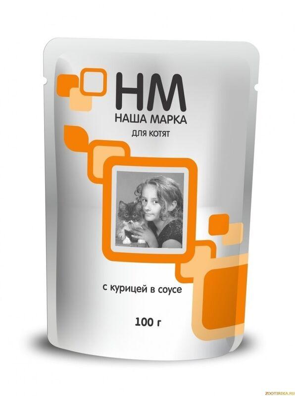 Наша Марка Для котят с курицей 100 гр. х 24 шт. - фото 1