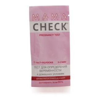 Экспресс-тест Beromed Тест для определения беременности MAMA CHECK, 1 тест-полоска - фото 1