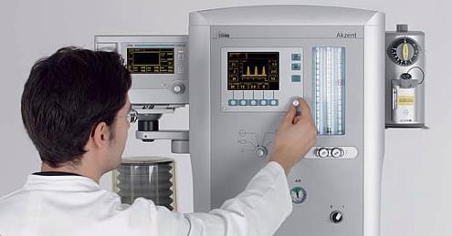 Медицинское оборудование Stephan Наркозно-дыхательный аппарат Akzent - фото 1