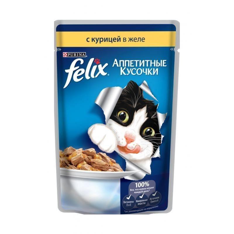 Felix Аппетитные кусочки Курица в желе 85 гр. х 24 шт. - фото 1