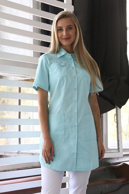 Доктор Стиль Медицинская блуза «Сафари» мята ЛЛ 2229.35 - фото 1