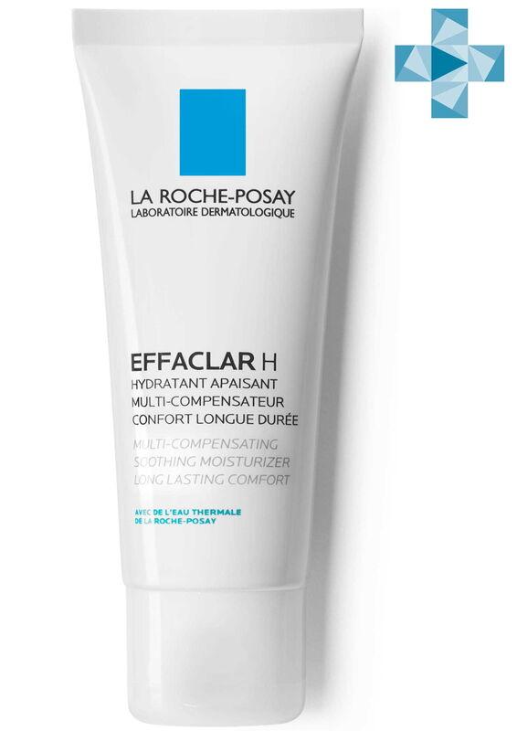 La-Roche-Posay EFFACLAR H Восстанавливающее средство для пересушенной проблемной кожи, 40 мл - фото 1